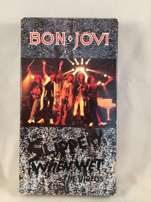 1987 Bon Jovi Slippery When Wet The Videos Vhs By Giftsbyjo On Etsy Bon Jovi Slippery When Wet Wet