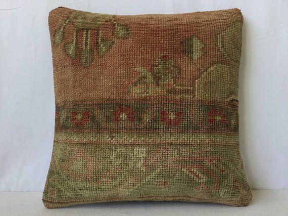 40x40 cm 16x16 incheskilim pillowantique pillowcarpet pillow