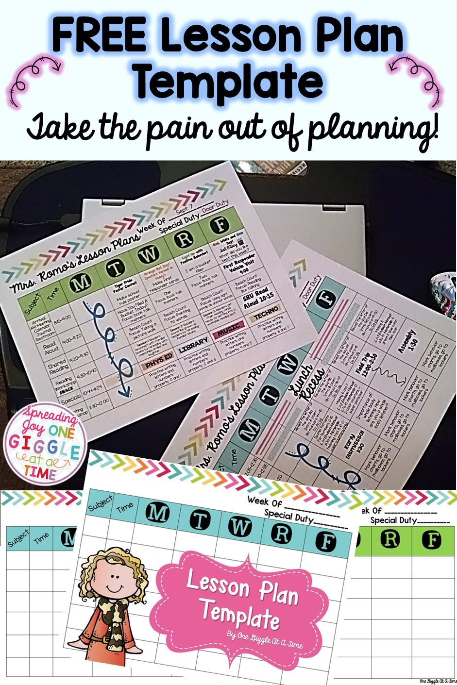 Lesson Plan Template in 2018   Organize It  School   Pinterest     It is always easier to plan when you have a pretty page to look at  FREE  LESSON PLAN TEMPLATE