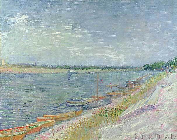 Vincent van Gogh - Moored Boats, 1887