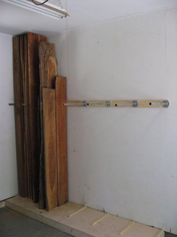 vertical lumber storage  workshop  Pinterest  목공, 차고 정리 및 선반