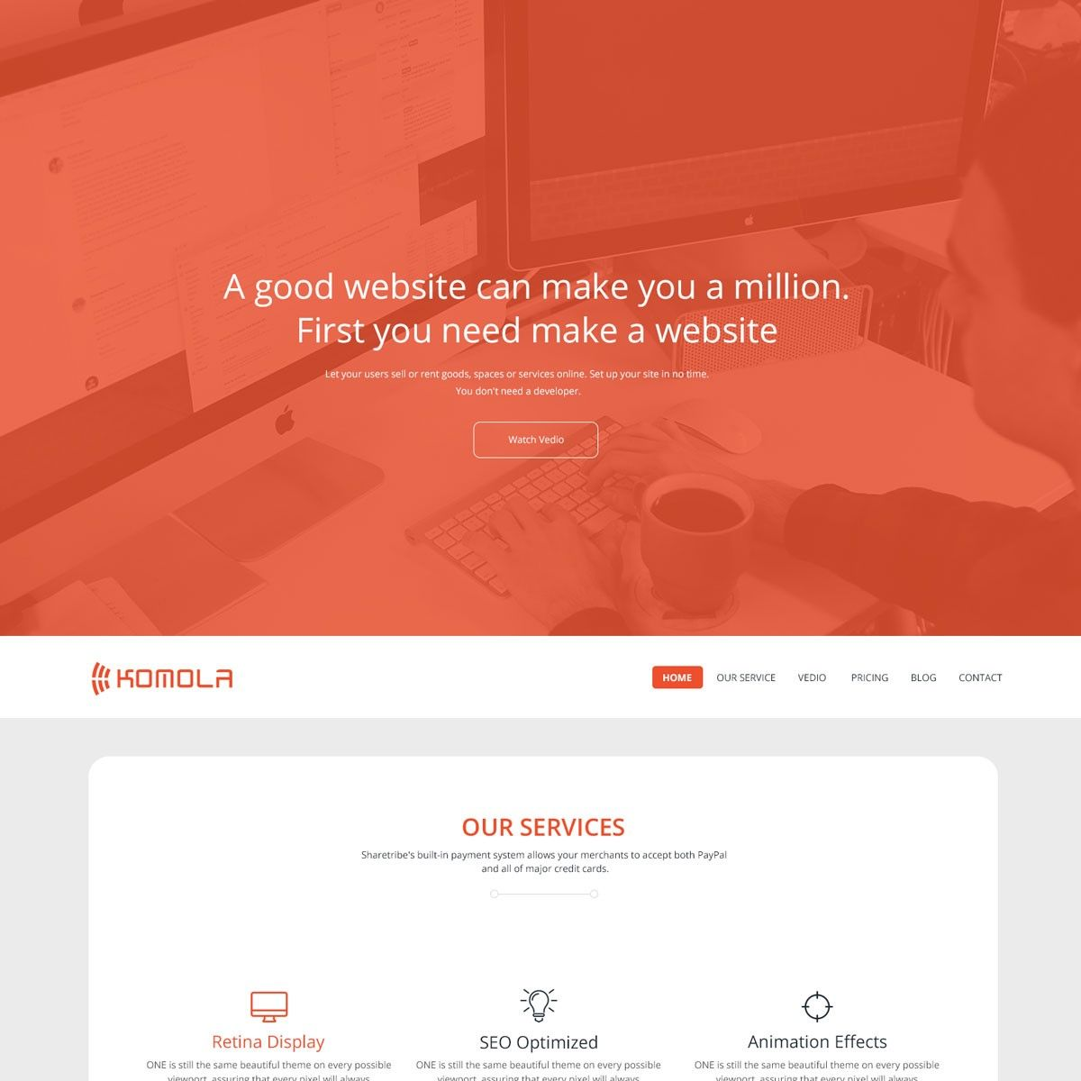Komola Free HTML5 Website Template Freebies Bootstrap CSS CSS3 ...