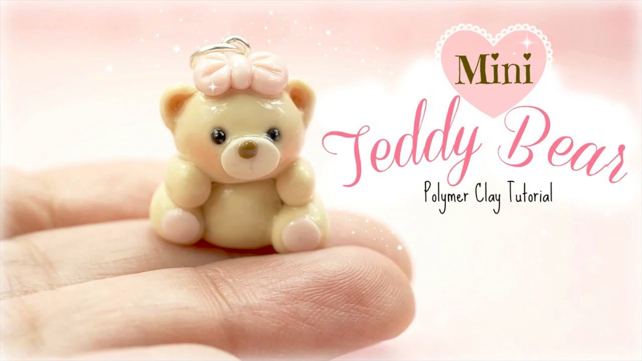 Mini Teddy Bear Charm Polymer Clay  #teddybear