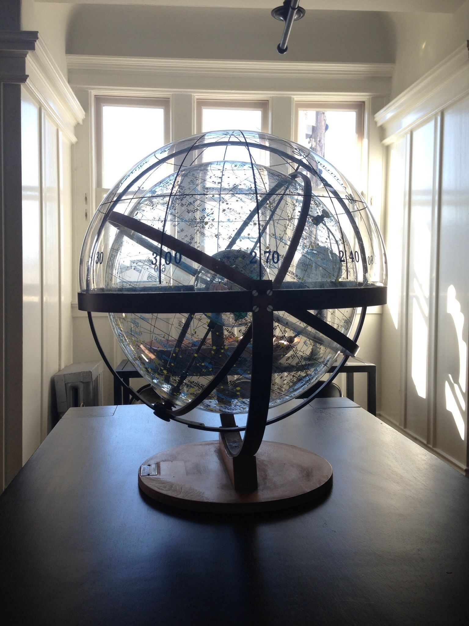Farquhar Transparent Celestial Globe 1946 Recycled Windows Little Houses Home Decor