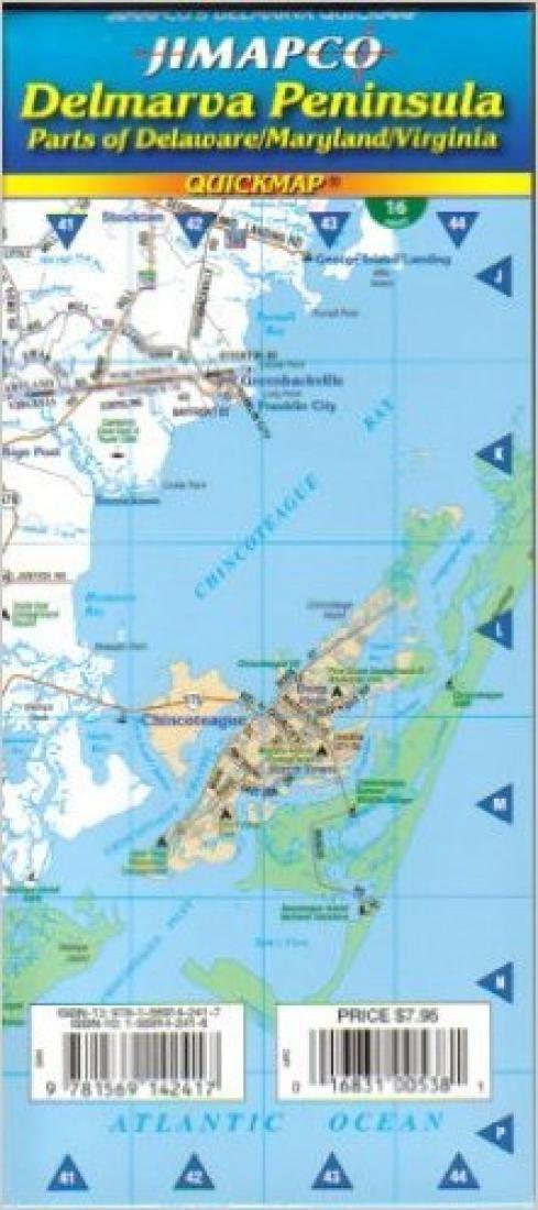 Delmarva Peninsula Delaware Maryland and Virginia Quickmap by