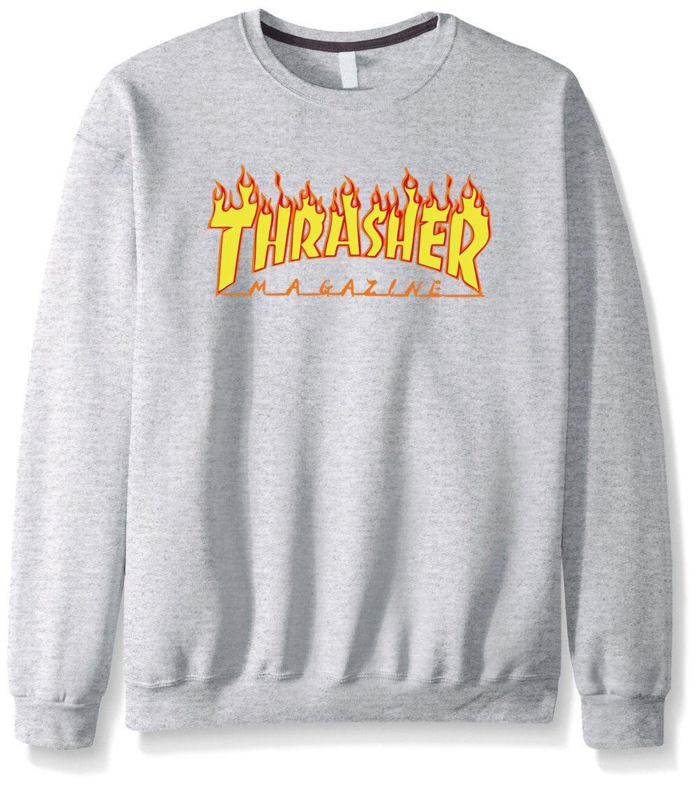 Thrasher Magazine Http Www Jakkoutthebxx Com Products New 2016 Fashion Autumn Winter Men Sweatshirt Mens Thrasher Sweatshirt Sweatshirts Mens Sweatshirts [ 1127 x 1000 Pixel ]