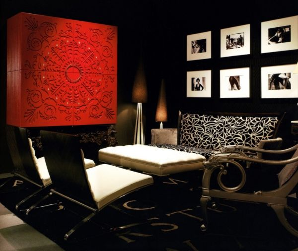 Black shade living and dining rooms - Adorable Home : Adorable Home