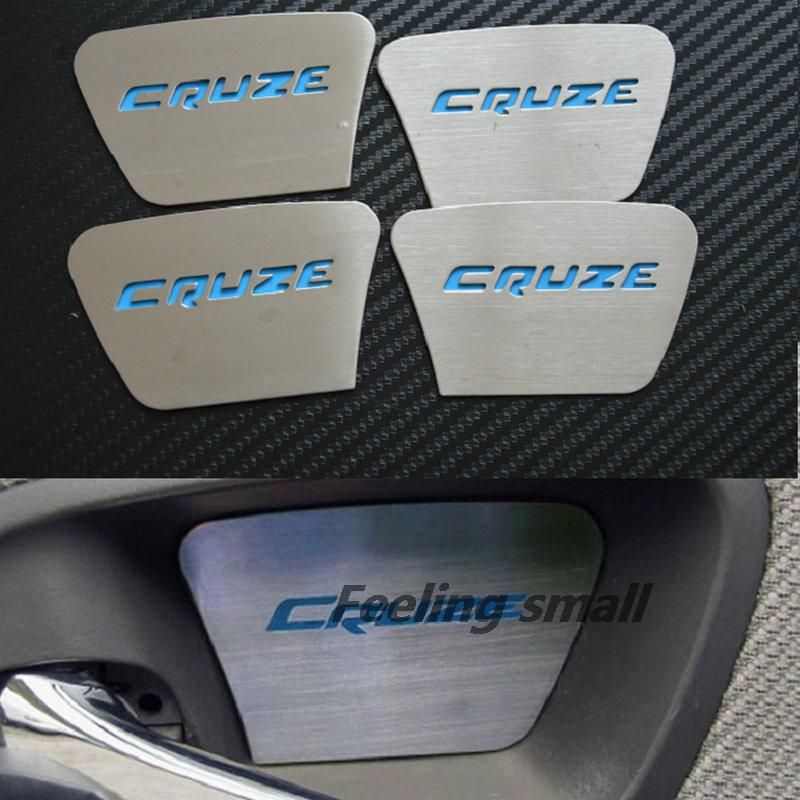 Luminous Special Inner Door Inside Door Bowl Wrist Modified Stainless Steel Decorative Stickers Car Stickers For Chevy Cruze Accessories Cruze Chevrolet Cruze