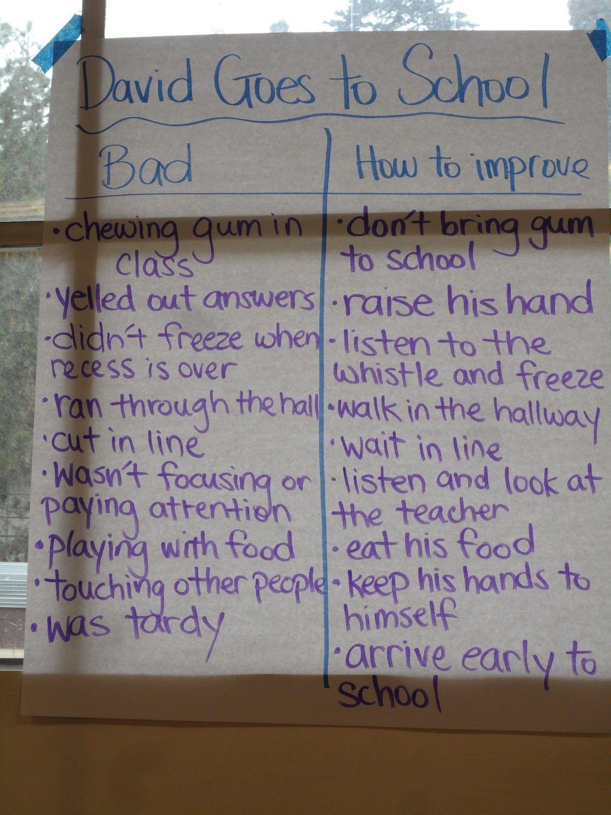 David Goes To School Worksheets