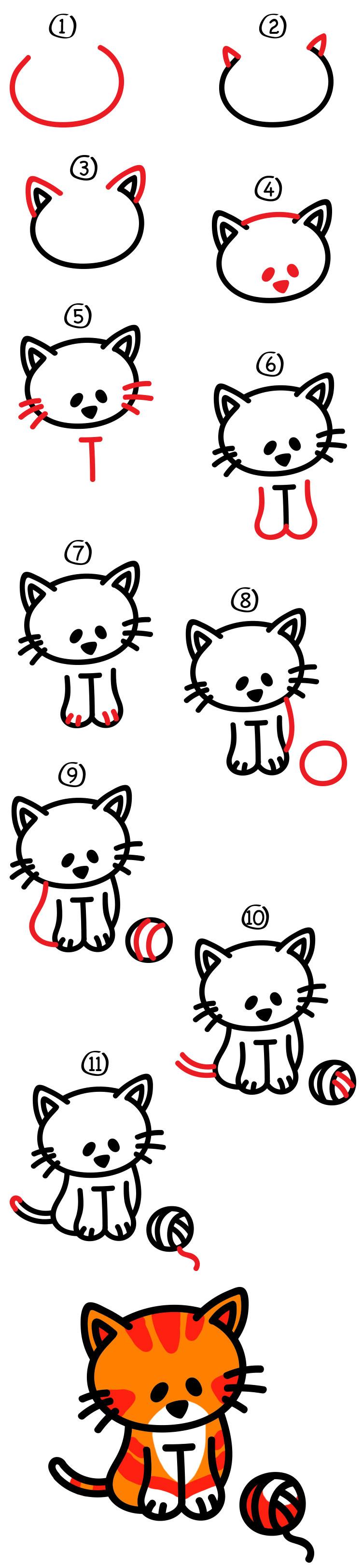 How To Draw A Cartoon Cat Art For Kids Hub Cartoon Cat Cartoon Illustration Art For Kids Hub