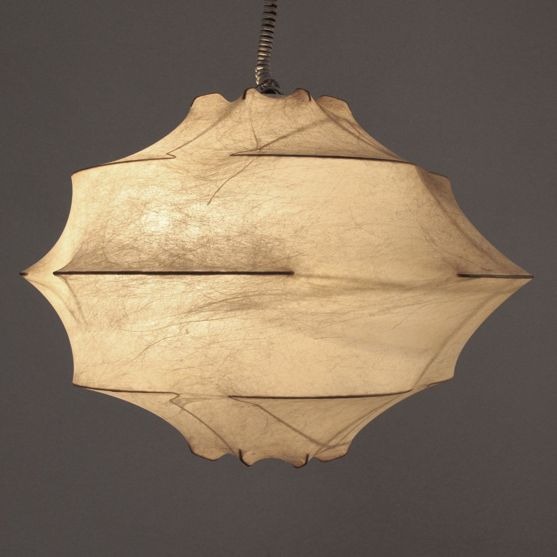 Suspension Papier Japonais Plafonnier Mid Century En Cocon Italie 1960s 5 Light