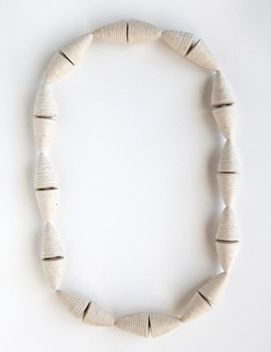 Kiff Slemmons, United States, Necklace - Conos Grandes, cotton, agave, handmade paper, 2010-11