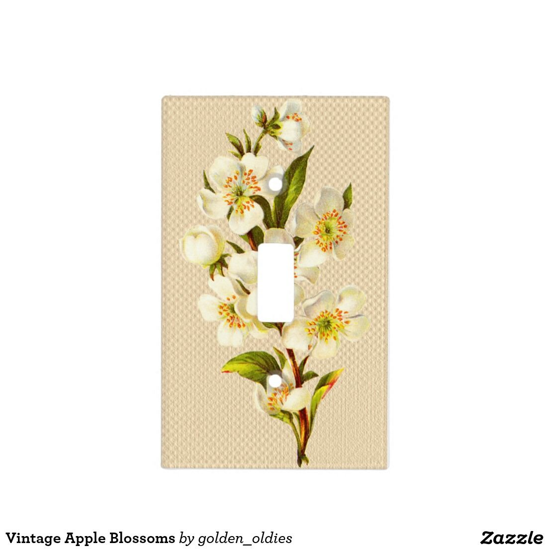 Vintage Apple Blossoms Light Switch Cover