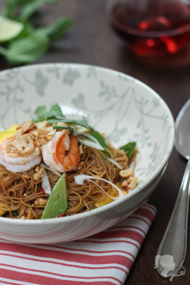 Asian Glass Noodle Salad with Prawns
