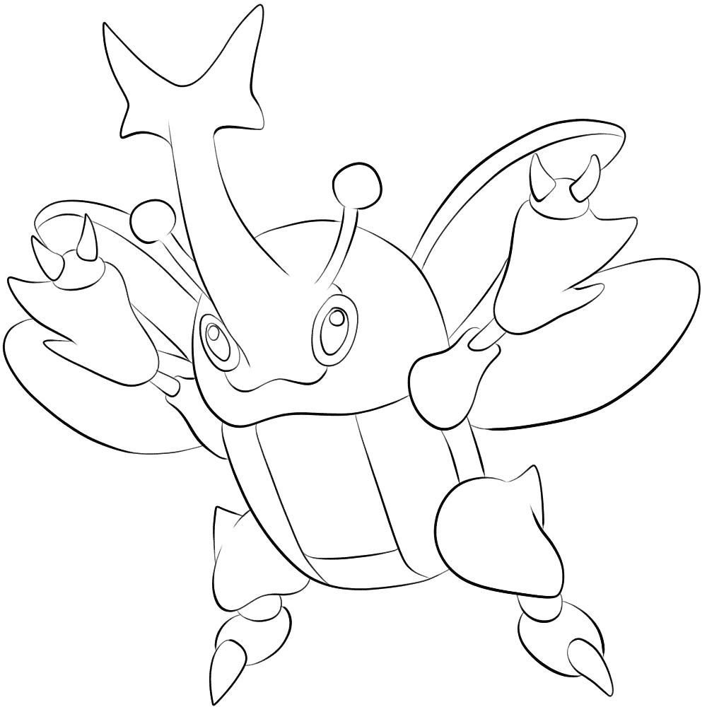 214 Heracross Pokemon Kleurplaat Pokemon Kleurplaten Tweede