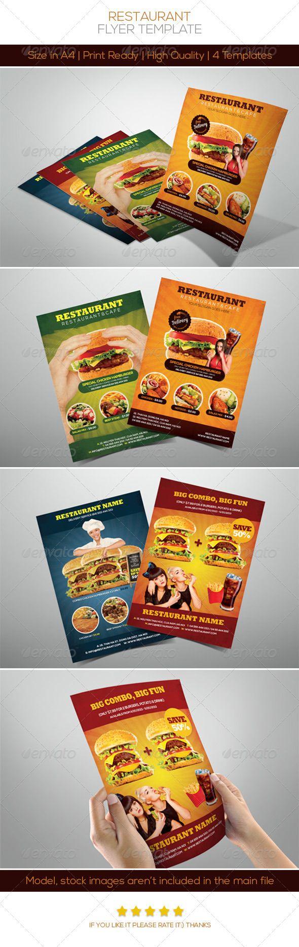 Premium Restaurant Flyers  Restaurants Print Templates And Fonts