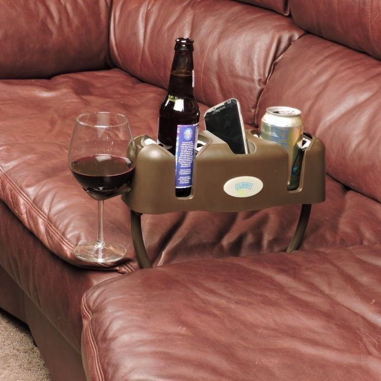 Couch Drink Caddy Drink Holder Cool Inventions Drinks