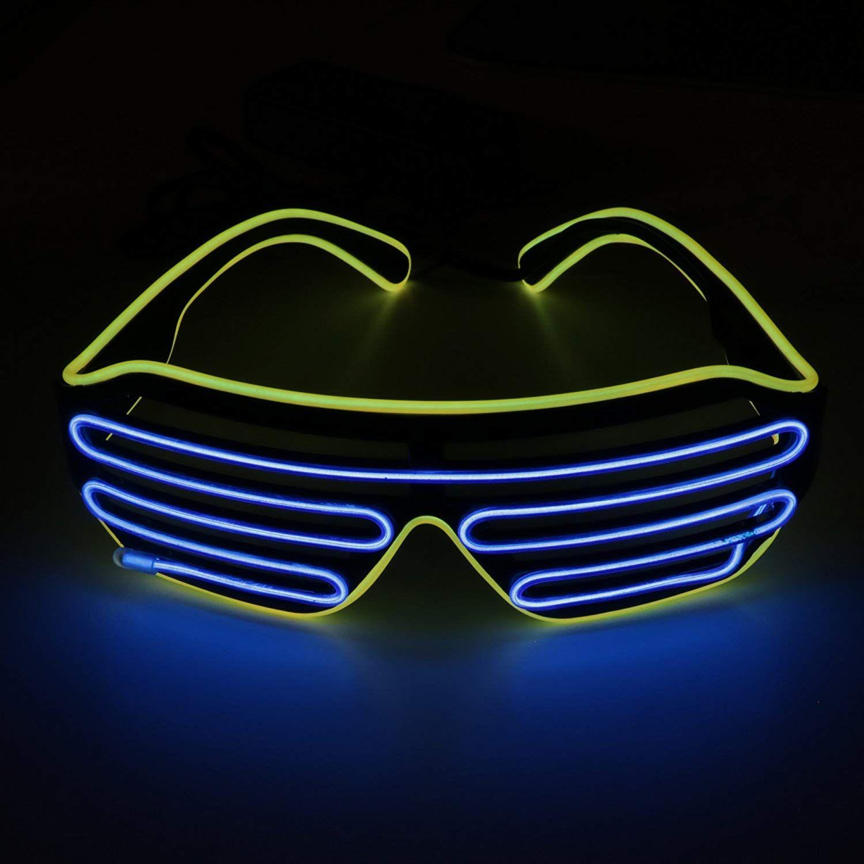 OS #Leuchtbrille LED, farbintensiv und auffallend - #Partyzubehör ...