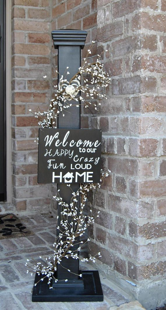 Welcome Sign Decor Magnificent Decorative Welcome Sign Decorative Welcome Porch Post  Home Decor 2018