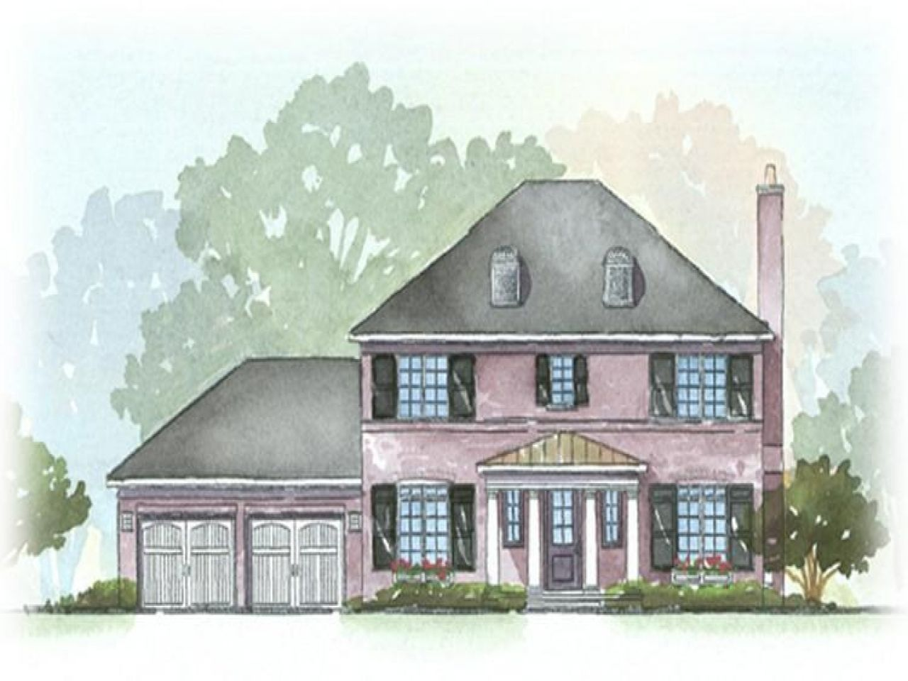 Georgian Style House Plans Architecture Home Southern Colonial