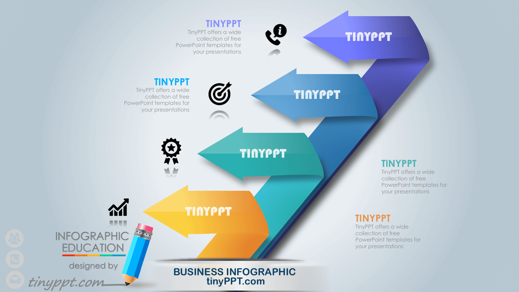 powerpoint infographic template free download | places to ...