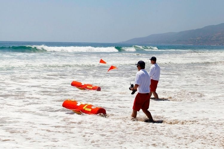 Emily robotic lifeguard can rescue eight people at a time