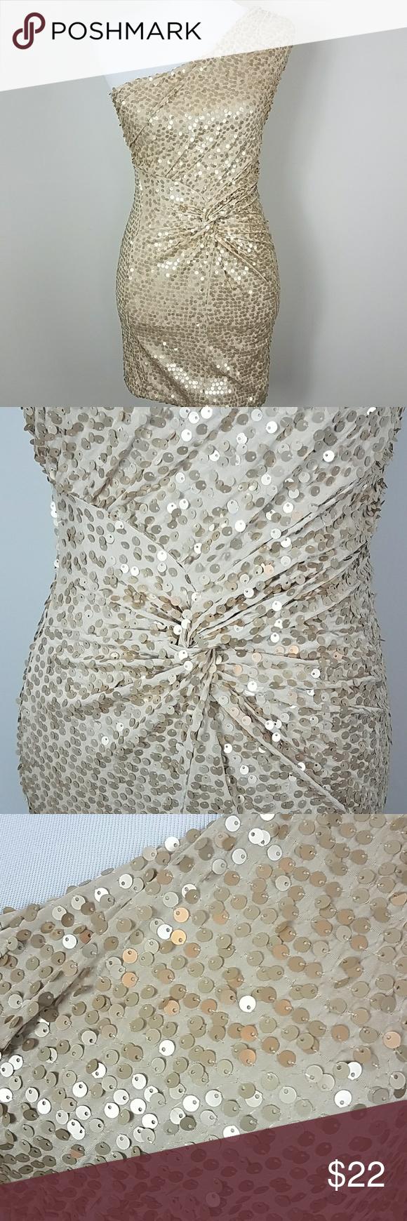 Arden b gold sequin off shoulder dress xs nwt shoulder dress