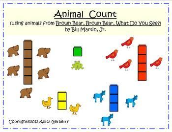 Activities Using Animals From The Book Brown Bear Brown Bear
