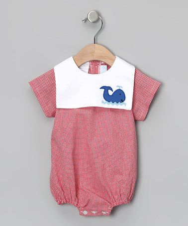Red Gingham Whale Sailor Bodysuit - Infant by Betti Terrell on #zulily today!