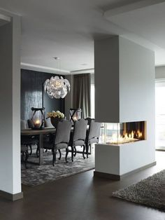 Bioethanol Fireplace Centre Of Room Contemporary Google Search Grijs Huis Decor Binnenhuisarchitect Huis Interieur