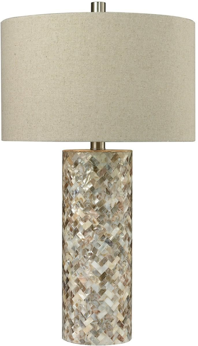 1 Light 3 Way Table Lamp Natural Mother Of Pearl Shell Table