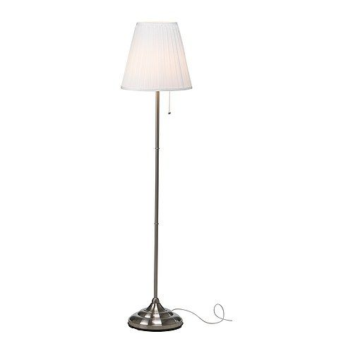 197 Rstid Floor Lamp Nickel Plated White Floor Lamp