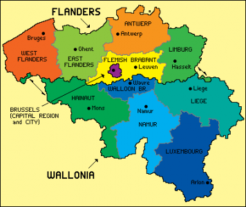 A recent map of Belgium Travel tips and maps