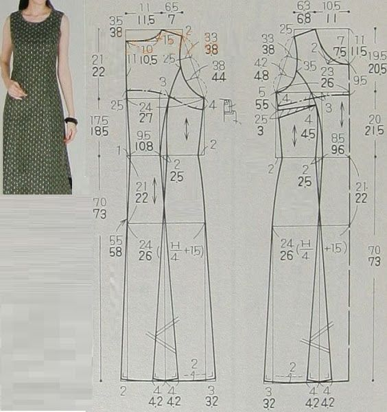 vestido corte imperio recto