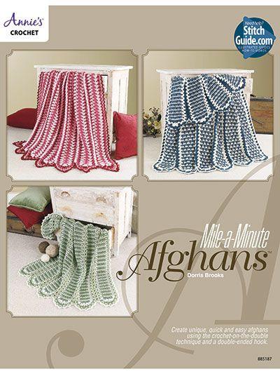 Mile A Minute Afghans Crochet Knitting Pinterest Afghans