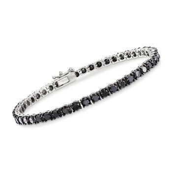8 00 Ct T W Black Diamond Tennis Bracelet In 14kt White Gold Diamond Tennis Necklace Black Diamond Diamond