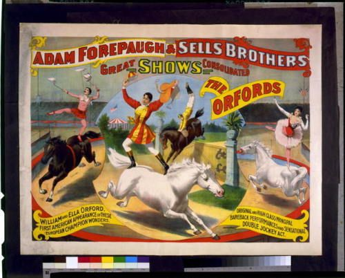 Adam-Forepaugh-Sells-Brothers-great-show-consolidated-Oxford-circus-poster-c1897