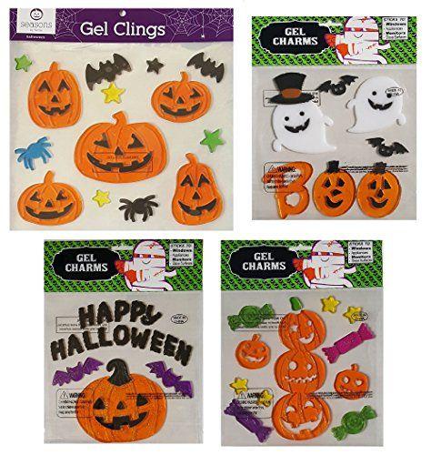 Halloween Decorations Window Gels With Jack O Lantern Pumpkins - halloween window clings