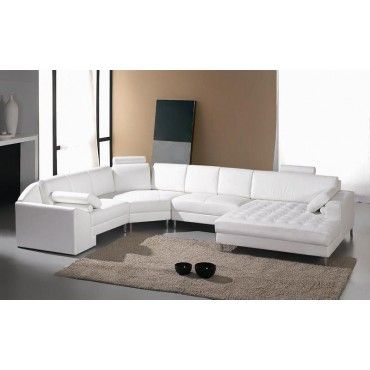 Monaco White Leather Sectional Sofa Sectional Sofas Living Room Leather Sectional Sofas White Leather Sofas Sectional Sofa With Chaise