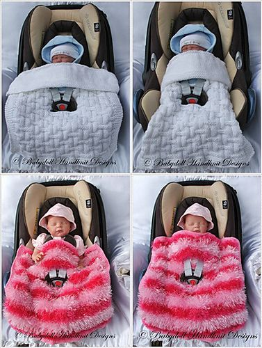Car Seat Blanket pattern by Claire Topping | Cubierta de cochecito ...