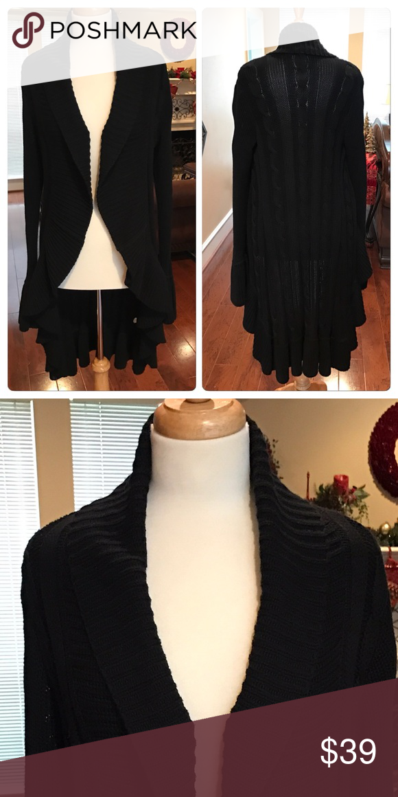 🎉SALE Long sweater - Daisy Fuentes size M | Beautiful, Black ...