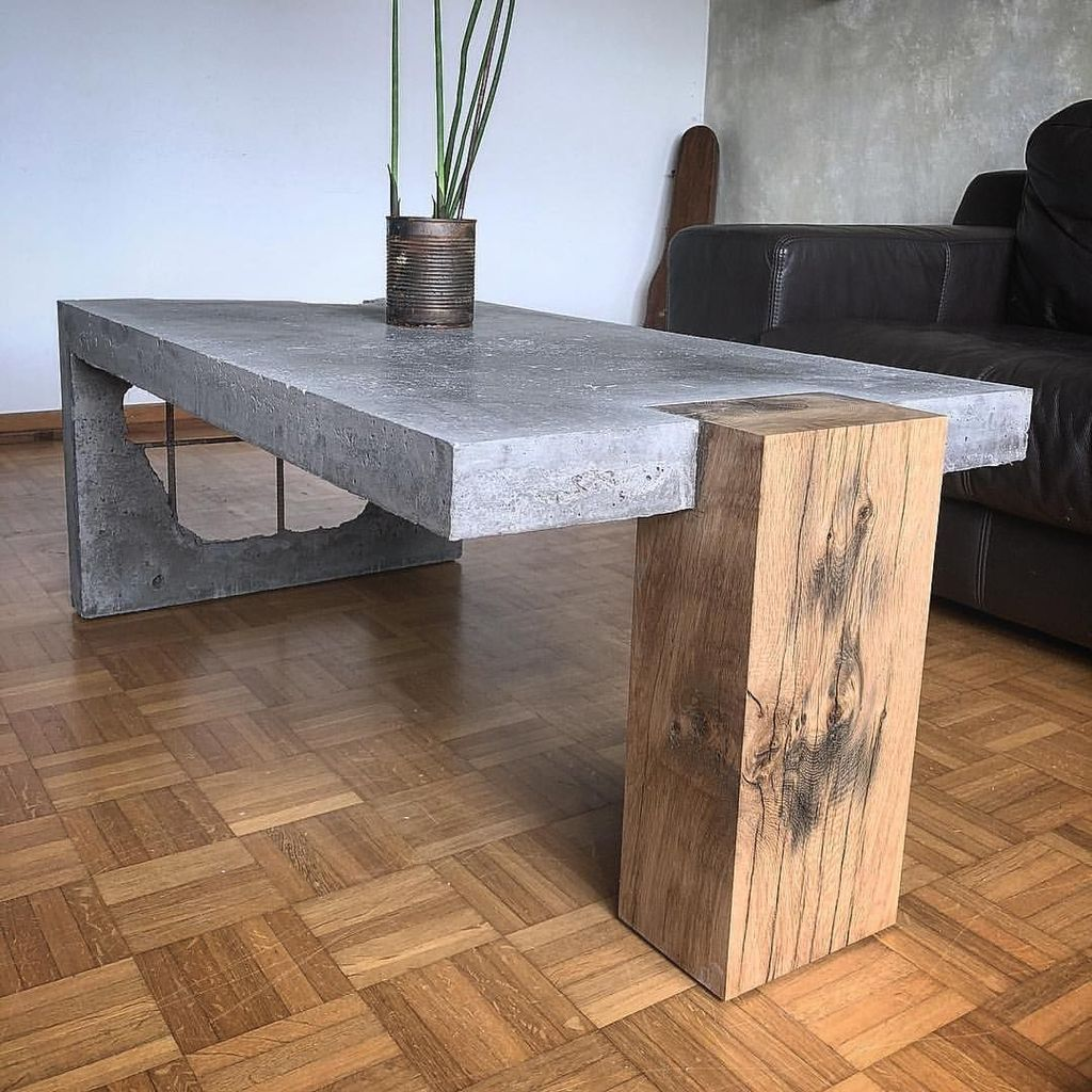 37 Creative Diy Coffee Table Design Ideas To Beautify Your Living Room Trendehouse Concrete Coffee Table Coffee Table Concrete Table [ 1024 x 1024 Pixel ]