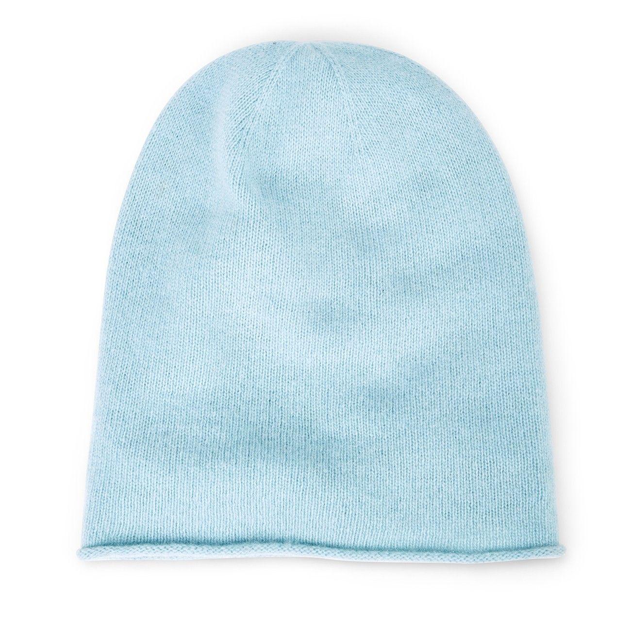 4642503518d Lightweight Wool Beanie - Powder Blue-one size