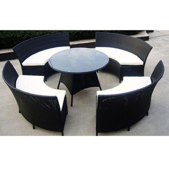 8-Sitzer Gartengarnitur Kuehn mit Polster