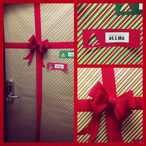 Dorm Door Decorations · #CSUF Dorm Room Decorated Like A Present. Part 61