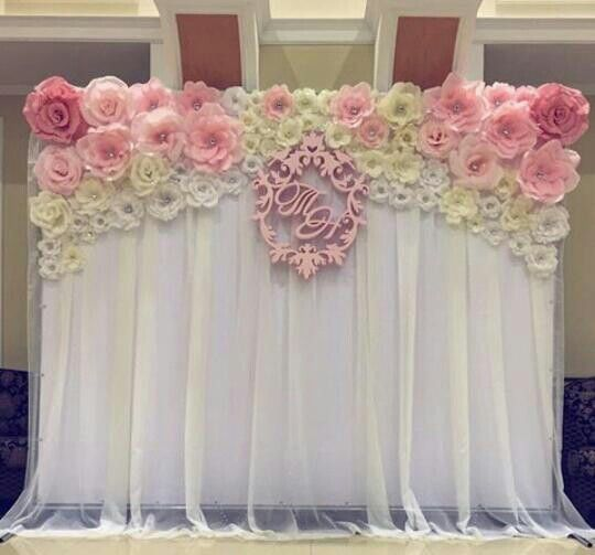 Decoraci n para eventos con flores de papel - Decorar con papel ...