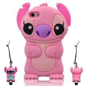 best service d4213 2341a Amazon.com: I Need's 3d Cute Movable Ear Flip Stitch & Lilo Silicone ...