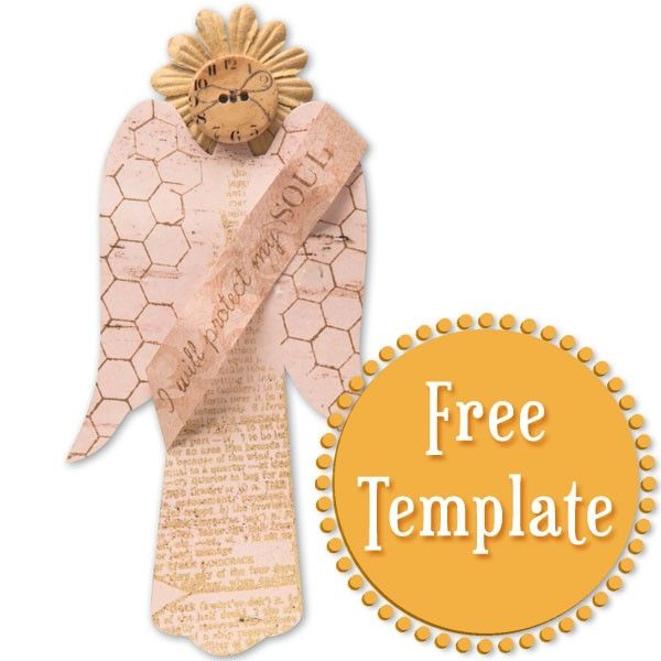 Angel Template Pieces of Paper with Love Pinterest Template - angels templates free