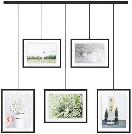 Amazon Com Umbra Exhibit Multi Picture Frame Displays 4x6 And 5x7 Photos Black In 2020 Picture Frame Gallery Multi Picture Frames Gallery Frame