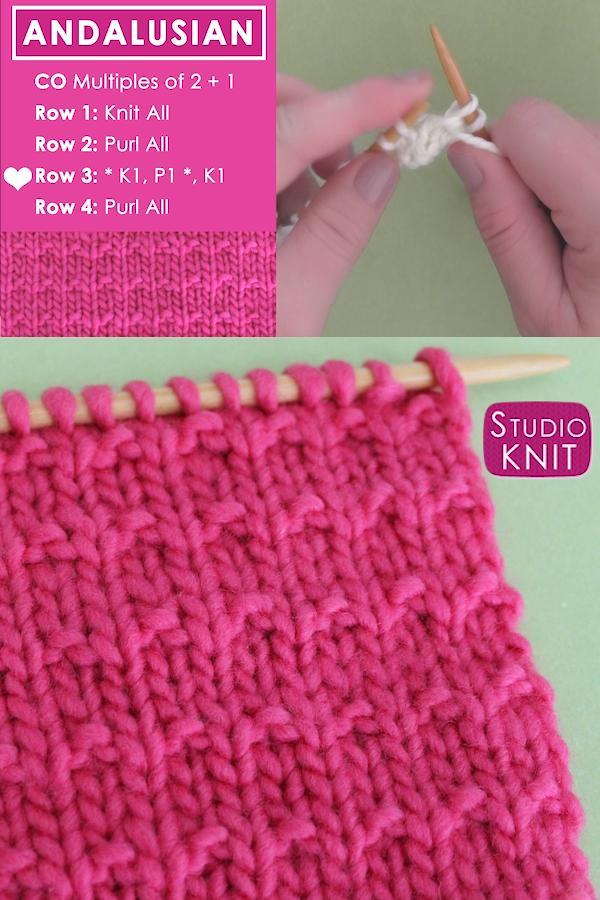 Andalusian Stitch (Knitting Pattern)